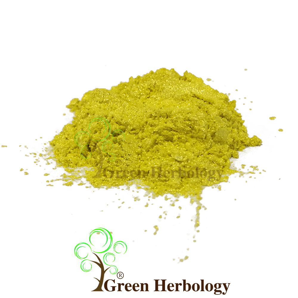 Yellow Mica Color Powder Natural Green Herbology