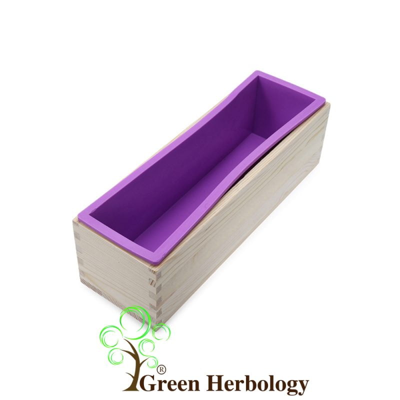Rectangle Silicone Loaf Soap Mold Wood Box