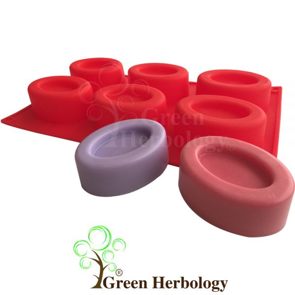 Oval Savarin 6 Cavity Silicone Mold for Handmade Soap Bar