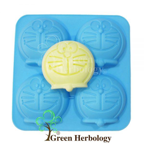 Doraemon 4 Silicone Mold for Handmade Soap Bar