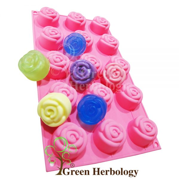 Rose 15 Silicone Mold for Handmade Soap Bar