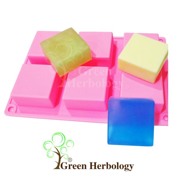 Square 6 Silicone Mold for Handmade Soap Bar