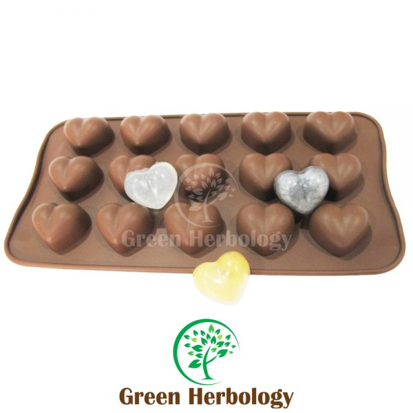 Heart Shape 15 Silicone Soap Mold