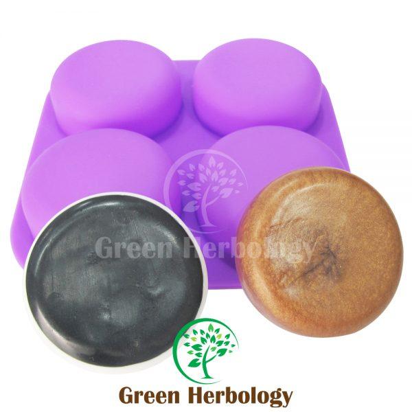 Round 4 Silicone Soap Mold